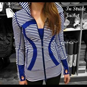 Lululemon In Stride Jacket Pigment Blue Stripe 4